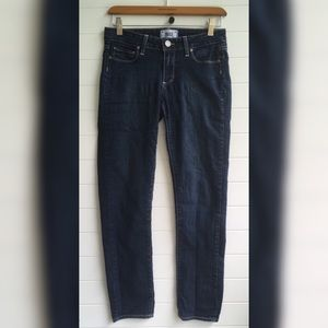 [PAIGE] Skyline Ankle Peg Medium Dark Wash Jeans